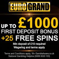 EuroGrand Casino offers £100 + 23 free spins! You need to make your first deposit ranging between £10 to £1999 into your casino account. To avail further benefits make your second deposit of £10 or more and receive the 60% on it, which is bonus up to £500 instantly. Also receive an extra bonus of 10-15% on every deposit you make. So visit the site to play and experience unique online casino games! http://ads.eurogrand.com/redirect.aspx?pid=189880778&lpid=13513526&bid=1476934146&var1=glc