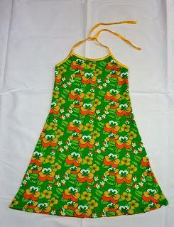 Eenvoudig halterjurkje in tricotstof (meisjes)