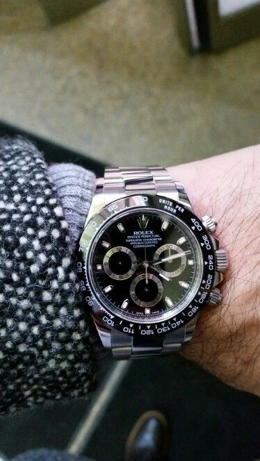 Rolex Daytona 116520 stainless steel black dial custom ceramic bezel