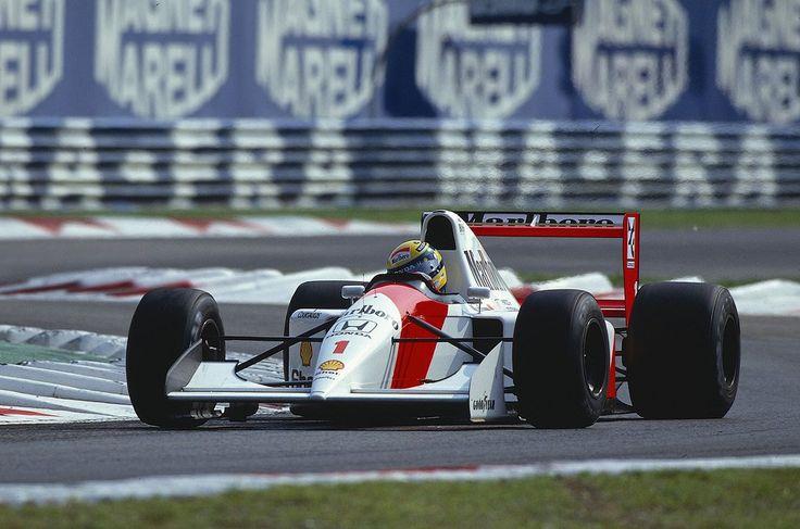 #OnThisDay 1992 at Monza, Ayrton Senna in #McLarenHonda MP4/7A scored his last #F1 win in a Honda-powered car. © LAT
