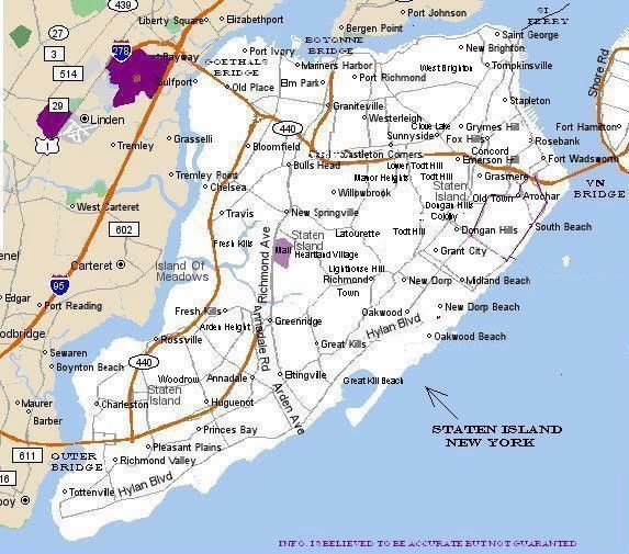 Here is a handy map of Staten Island so you can enjoy your day trip