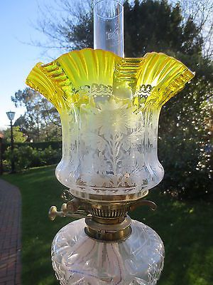17 Best images about Antique Oil Lamp Shades on Pinterest | Etched ...:Find best value and selection for your SUPERB ANTIQUE VICTORIAN VERITAS  YELLOW ACID ETCHED TULIP DUPLEX OIL LAMP SHADE search on eBay.,Lighting