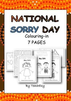 Sorry Day Australia Coloring-in