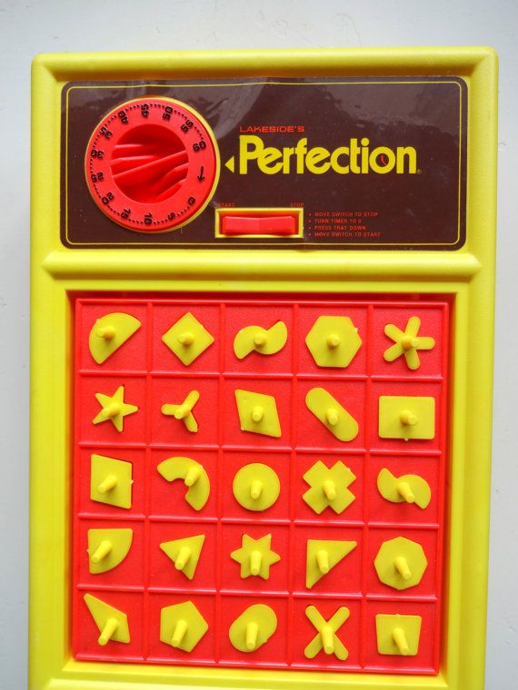 Vintage Lakeside's Perfection Board Game 1975 by WylieOwlVintage, $22.00