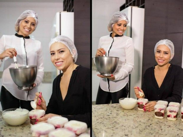 Irmãs trabalham juntas nas criações dos bolos (Foto: Bruno Souza Fotodigital)