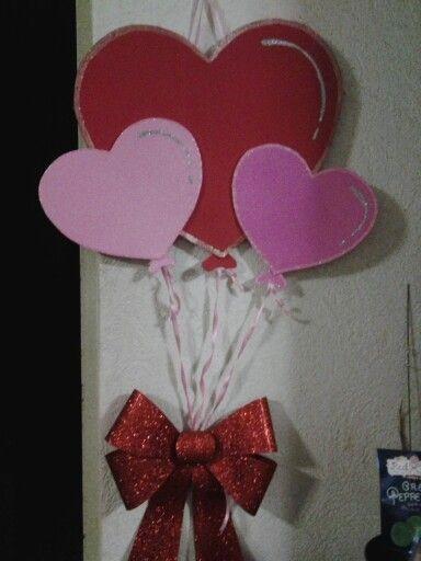 San valentines door decoration / decoracion de san valentin dia del amor y la amistad
