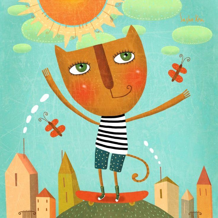 Дети, открытки саши кру