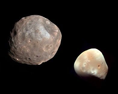 Phobos and Deimos - the Moons of Mars.