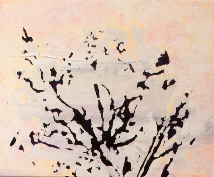Josiane Lanthier - La lumière passe à travers les arbres 1. (2014) acrylique sur toile 10 x 12 pouces - Prix : 400$