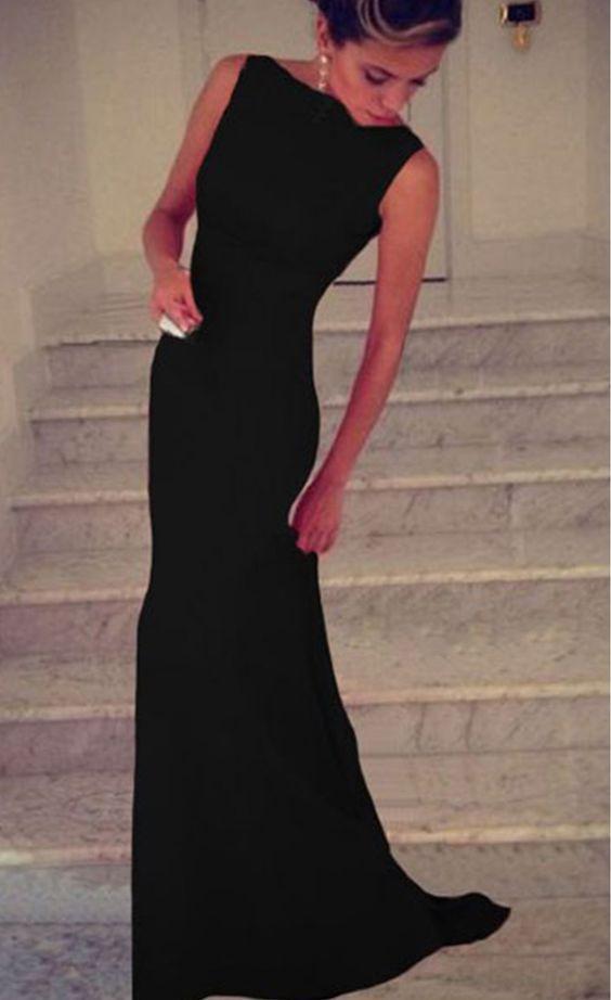 Black Prom Dress,Long Prom Dresses,Mermaid