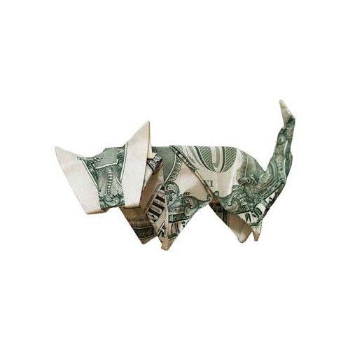 Origami formas increibles con un billete de un dólar11z