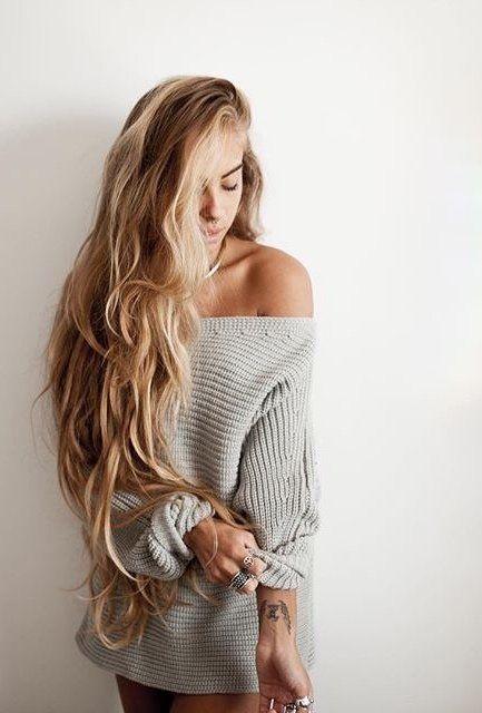 Incredible long blonde hair