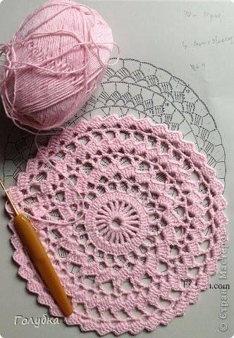 Toalhinha de crochê com gráfico. Pode ficar do tamanho que se desejar.