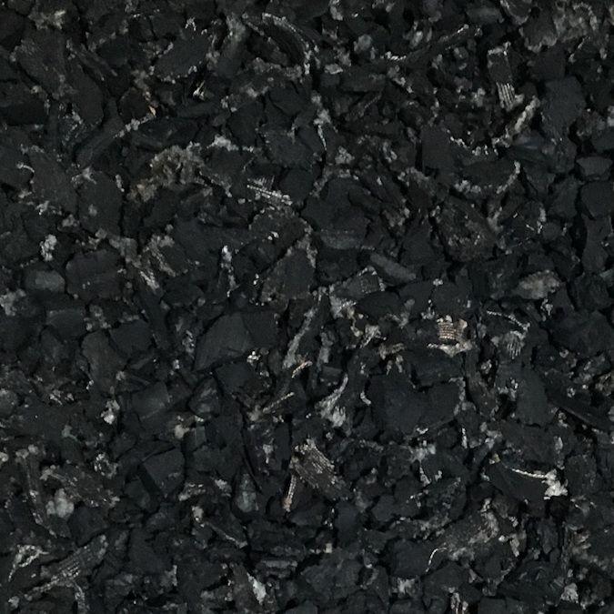 natural black rubber mulch - Black Rubber Mulch