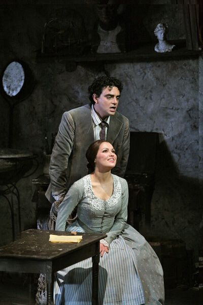 "Anna Netrebko and Rolando Villazon in ""La Bohéme"" by Giacomo Puccini."