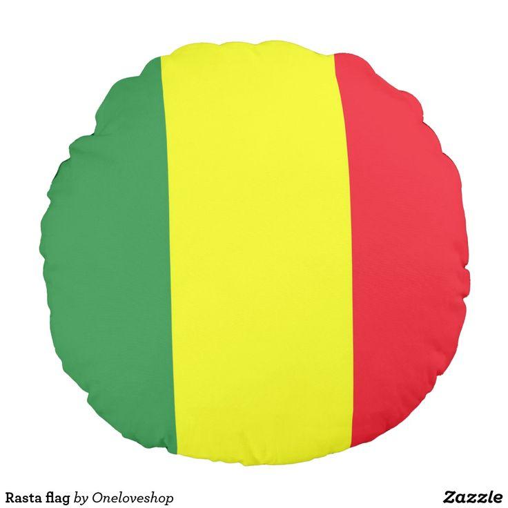 Rasta flag round pillow #reggae #flag #rastafari #bobmarley #onelove #oneloveshop