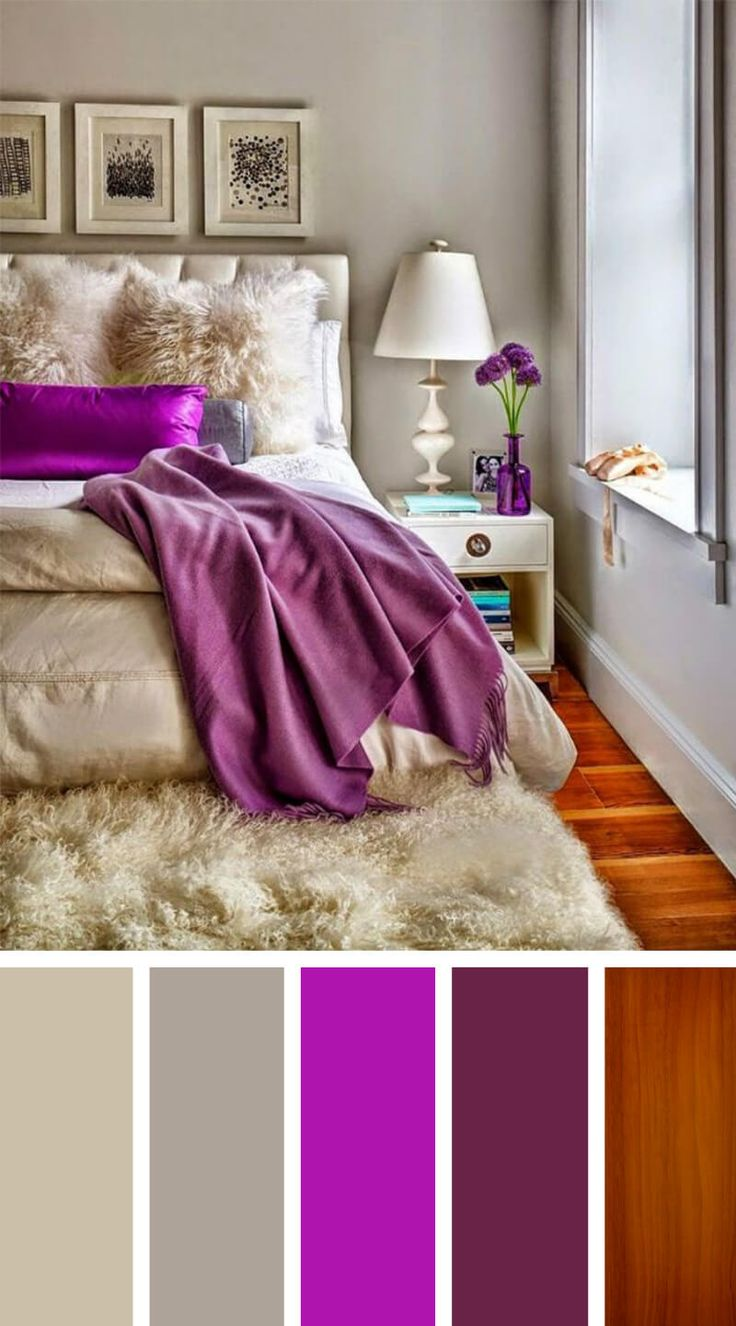 Purple Satin and Powder Gray with Hardwood