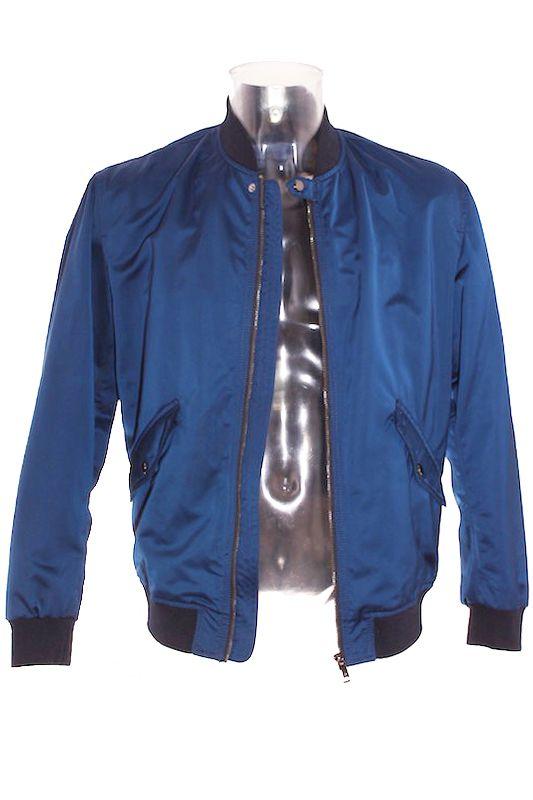 Cazadora Hombre – Zara Man Bomber en Color Azul Marino de Segunda Mano El Armario de Alvaro