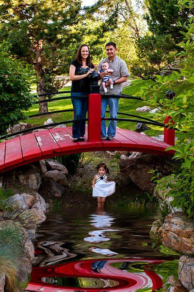 Family pictures at the international peace gardens salt lake city utah