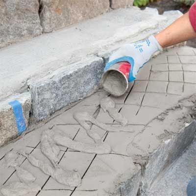 Top 25 best concrete steps ideas on pinterest garden - Resurfacing exterior concrete stairs ...