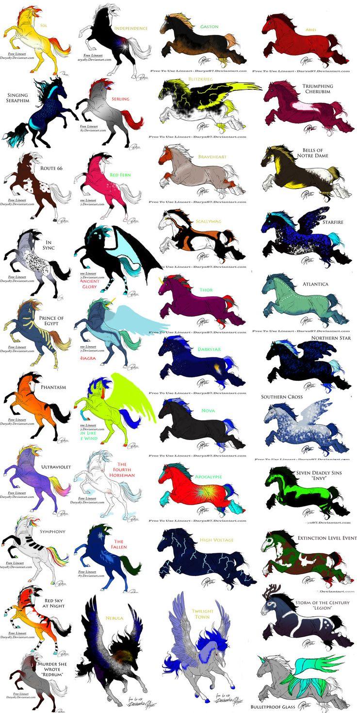 Horse OCs Sheet 3 (breedable) by KTLasair.deviantart.com on @DeviantArt