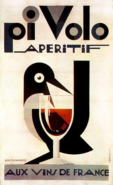 #houseofdesign | Pi Volo Aperitif Vintage Poster