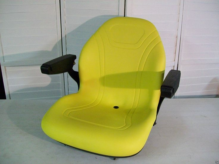 High back replacement seat with arm rests to fit John Deere model X-series Lawn and Garden Tractors. seat-warehouse.com | $189.95