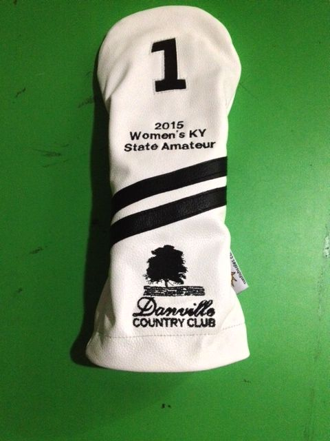 New Sunfish custom leather driver headcover order. Call 888-550-3025 to order for your event today.