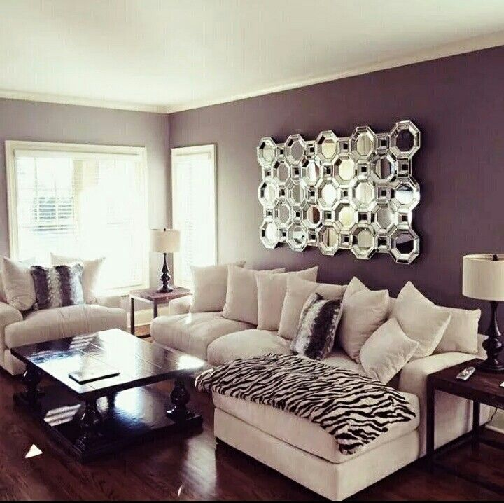 mirror purple room living room couch livingroom wall color purple