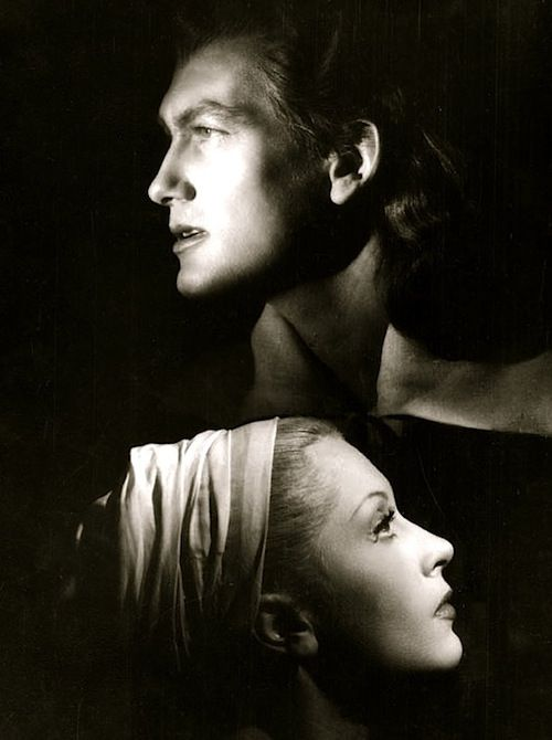 Jean Marais and Josette Day in La Belle et la Bête, directed by Jean Cocteau (1946).