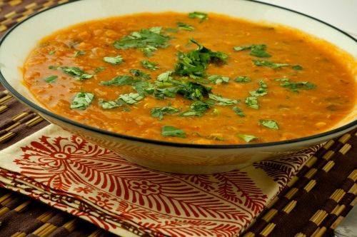 Moroccoan/Indian Lentil Soup. Fabulous with lots of flavor and also cooks in a crock pot.