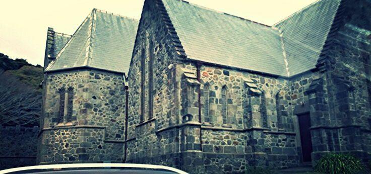 Old stone church. Taranaki, New Zealand