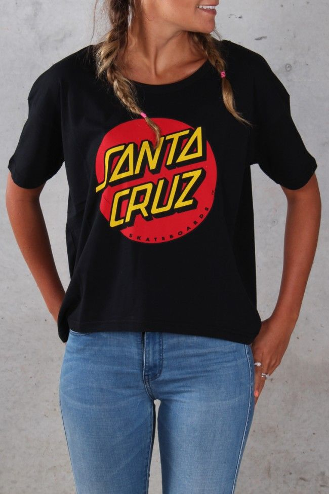 Santa Cruz - Big Dot Girls Oversize Tee Black