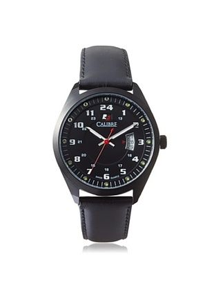 68% OFF Calibre Men's 4T1-13-007 Trooper Black Leather Watch