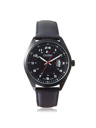 68% OFF Calibre Men's 4T1-13-007 Trooper Black Leather Watch