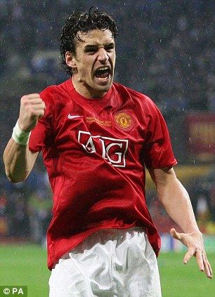 Owen Hargreaves in the 2008 Champions League final