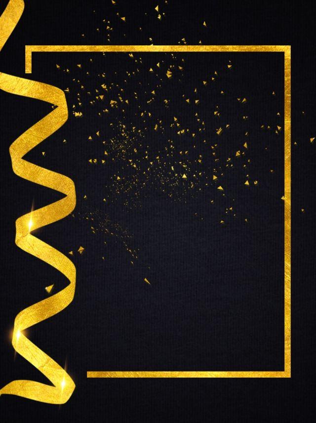 Black Gold Wind Creative Poster Background Design Fundo Cartaz