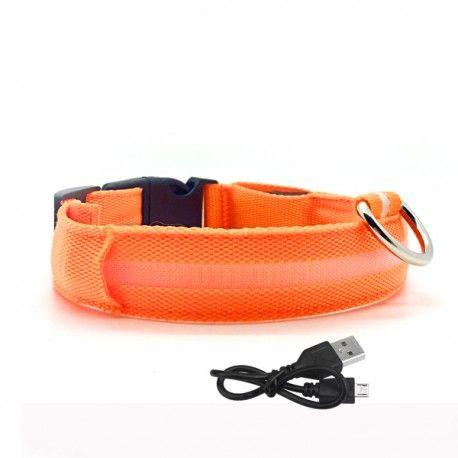 oplaadbare led halsband met verlichting oranje