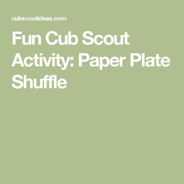 Fun Cub Scout Activity: Paper Plate Shuffle