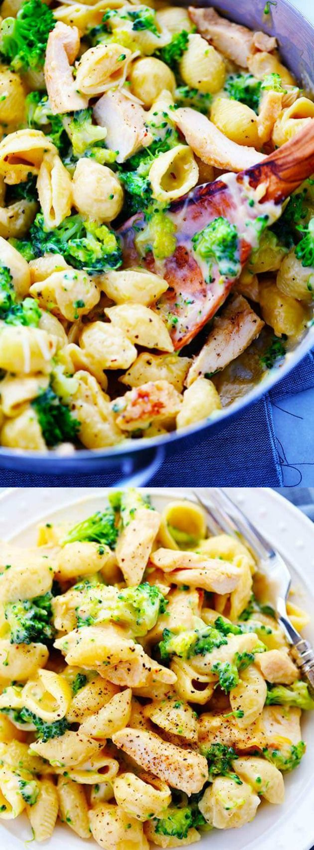This Cheesy Chicken Broccoli Shells recipe from The Recipe Critic is SO much better than the boxed mac and cheese! You really can't go wrong with a deliciously cheesy sauce, chicken, broccoli and shells!