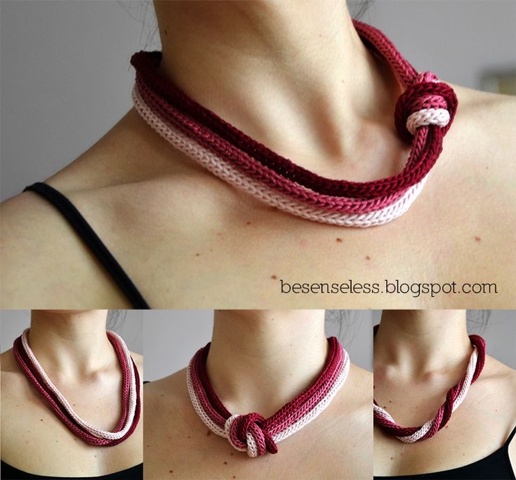 necklace tricotin