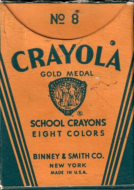 Vintage Crayola Box   (I remember when these were worth there weight in gold and inspiration)