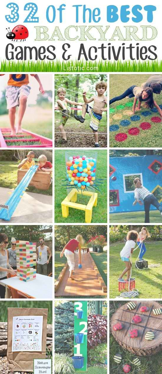 Fun outdoor games for kids. Great roundup for summer.