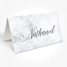 Romantic Marble or Pink Wedding Placecards, professionally printed with your guest nanes, Peach Perfect Australia