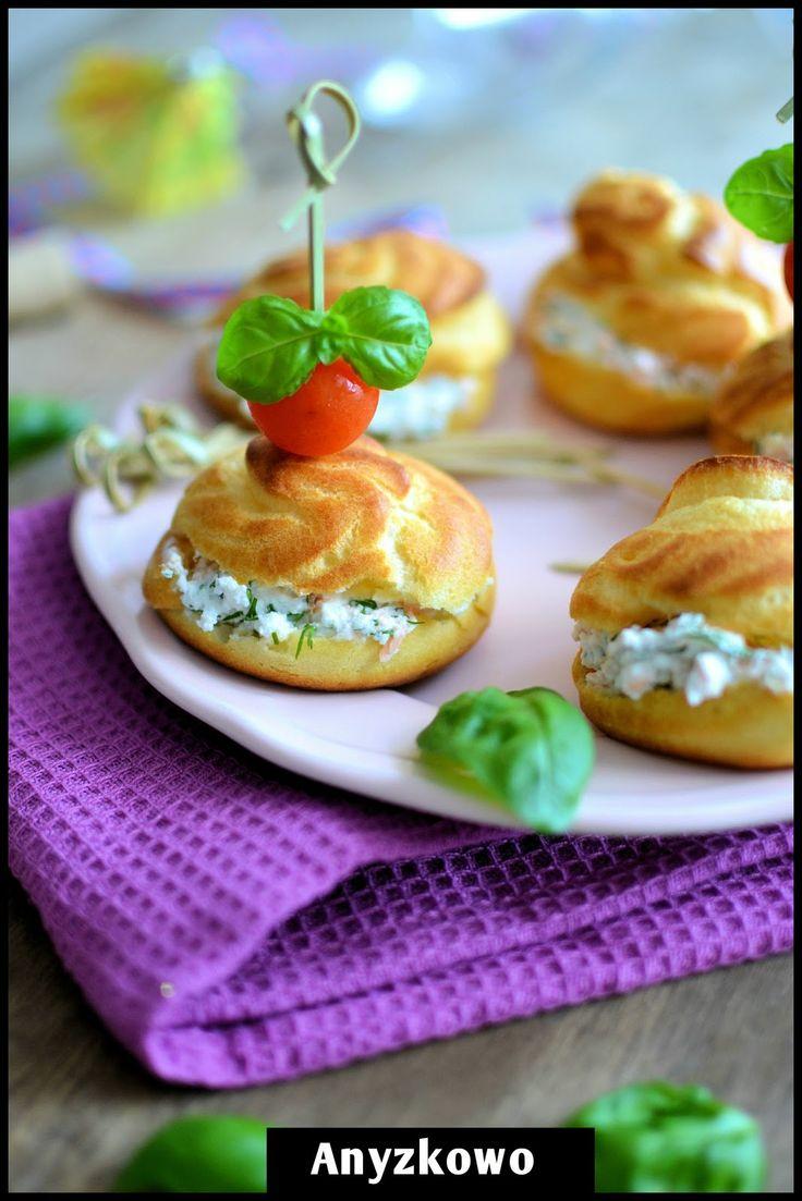 ricotta and salmon cream puffs
