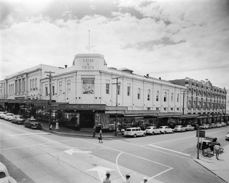 Cribb & Foote Department Store at the corner Brisbane and Bell Streets,Ipswich,Queensland in 1959.