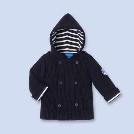 Caban en tricot pour bébé, garçon
