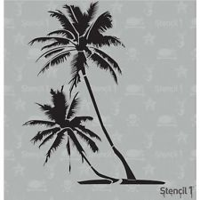 Stencil 1 Reusable Craft & DIY Stencil 6x6  PALM TREES Tropical Tree