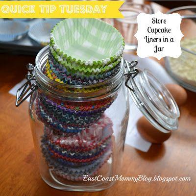 Quick Tip Tuesday 2 Cupcake Liner Storage