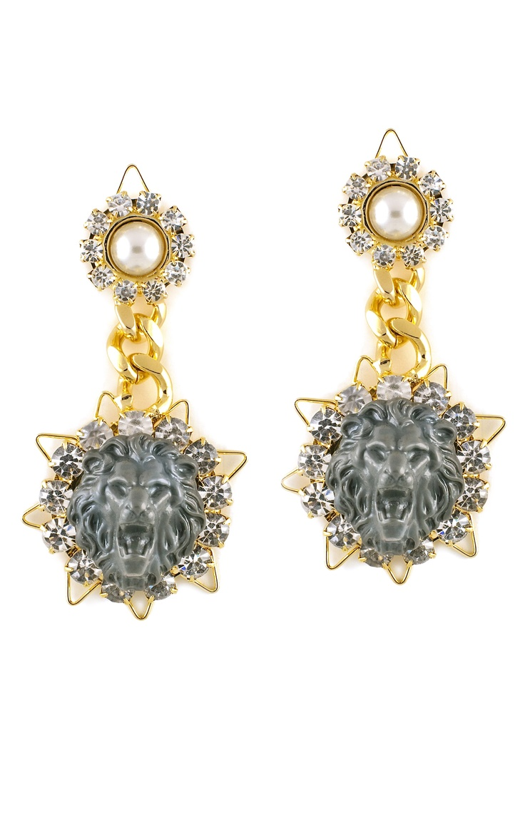 Shinde Lion Drop Earrings: Jewelry Trendy Timeless, 2013 Fenton, Earrings 395, Lion Drop, Drop Earrings, Accessories Woman, Shind Lion, Fenton Shind, Amazing Jewelry